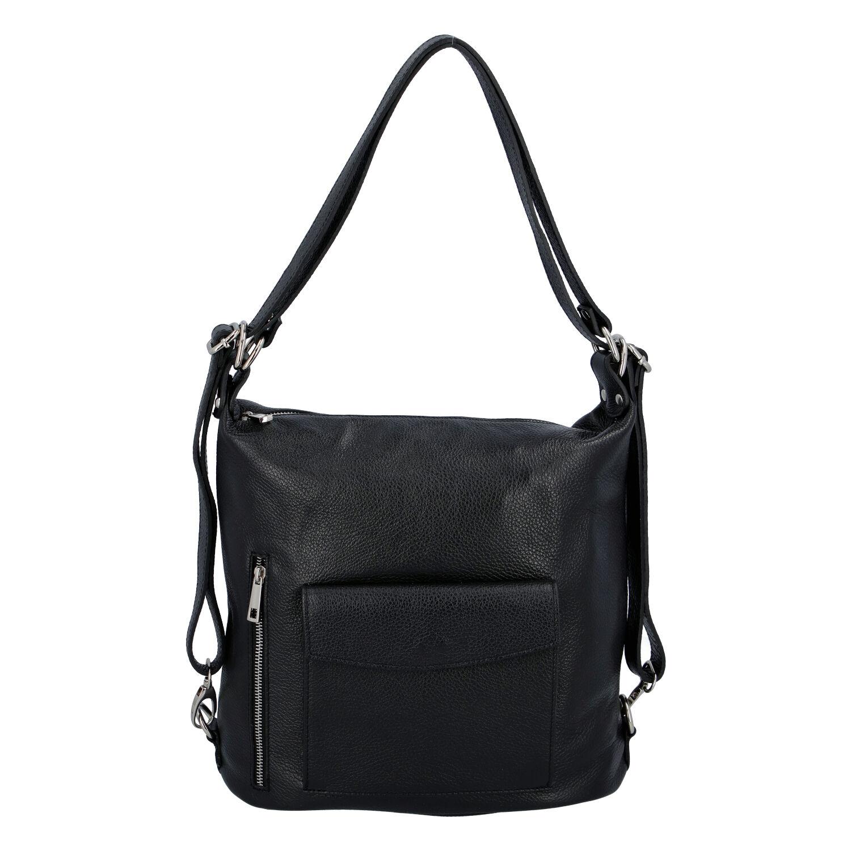 Dámska kožená kabelka batoh čierna - ItalY Singa čierna