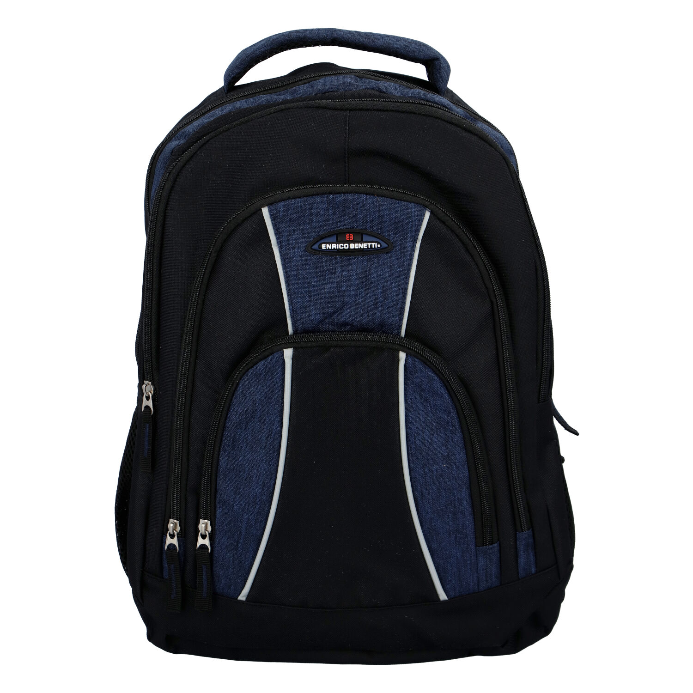 Športový batoh čierno modrý - Enrico Benetti Schenzyn tmavo modra