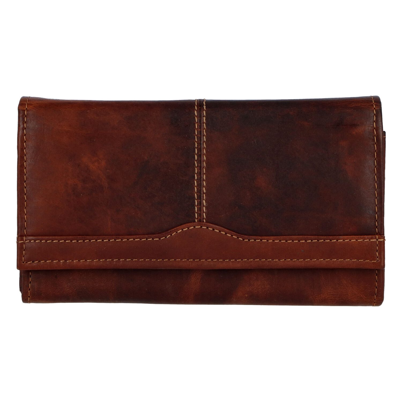 Dámska kožená peňaženka hnedá - Tomas Salto hnedá