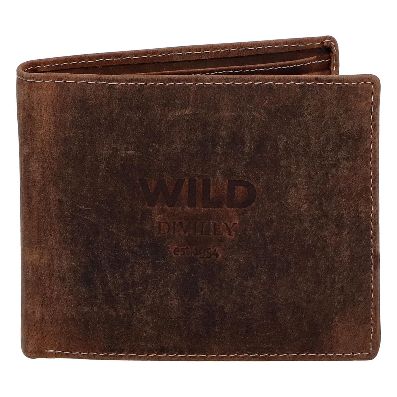 Pánska kožená peňaženka hnedá - WILD Stockholm hnedá