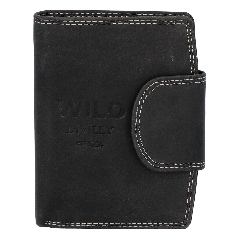 Pánska kožená peňaženka čierna - WILD Soul čierna