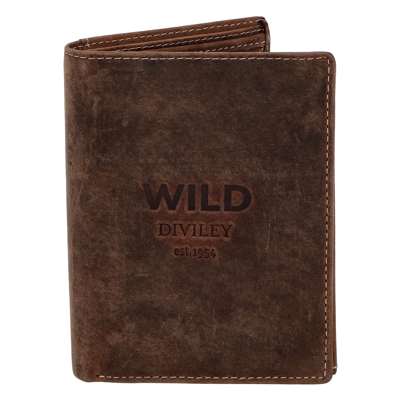 Pánska kožená peňaženka hnedá - WILD Sangaj hnedá
