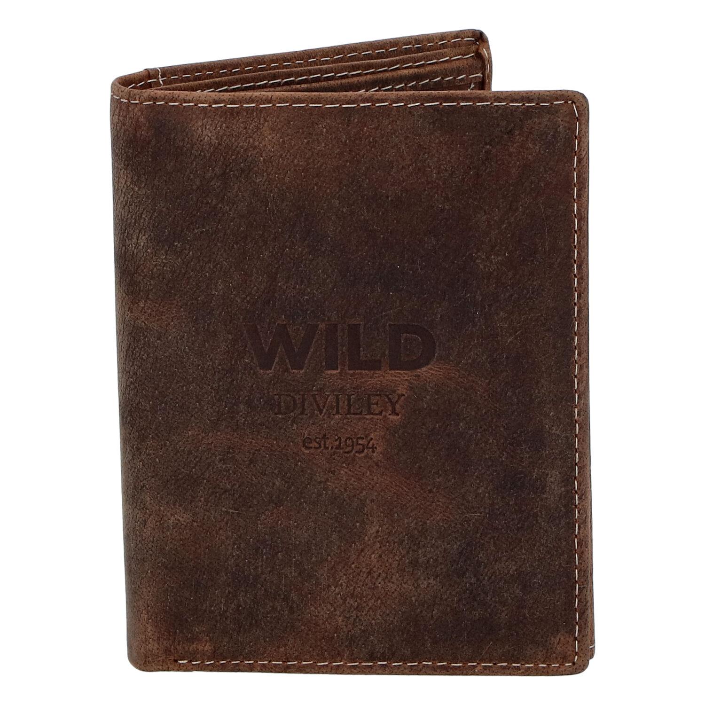 Pánska kožená peňaženka hnedá - WILD Dilly hnedá