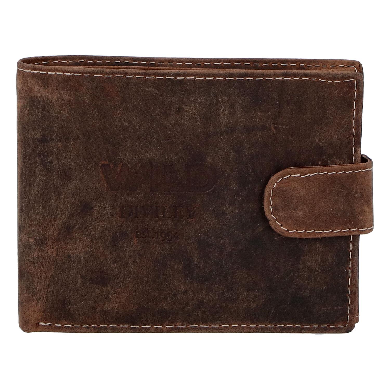 Pánska kožená peňaženka hnedá - WILD Flam hnedá