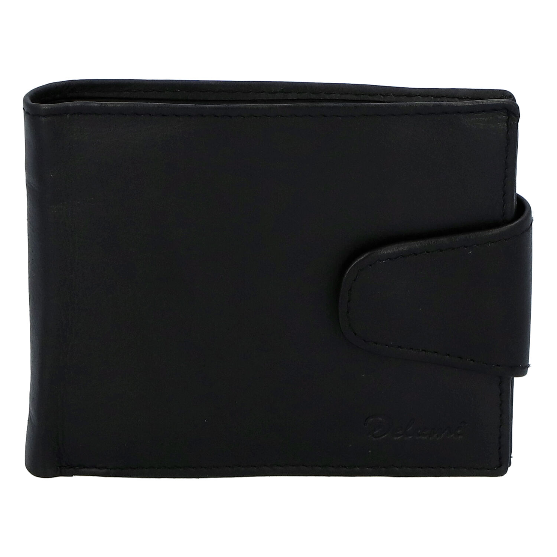 Pánska kožená peňaženka čierna - Delami 11816A čierna
