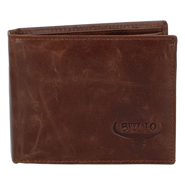 Pánska kožená peňaženka hnedá - WILD Gogh hnedá