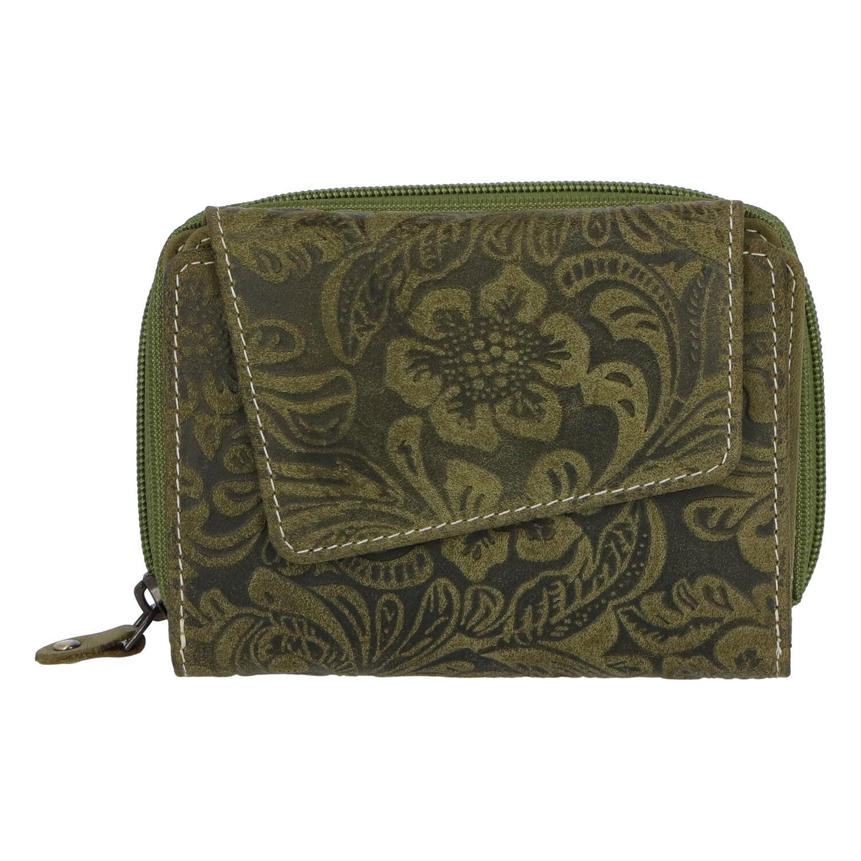 Dámska kožená peňaženka zelená - Tomas Pierluigi zelená