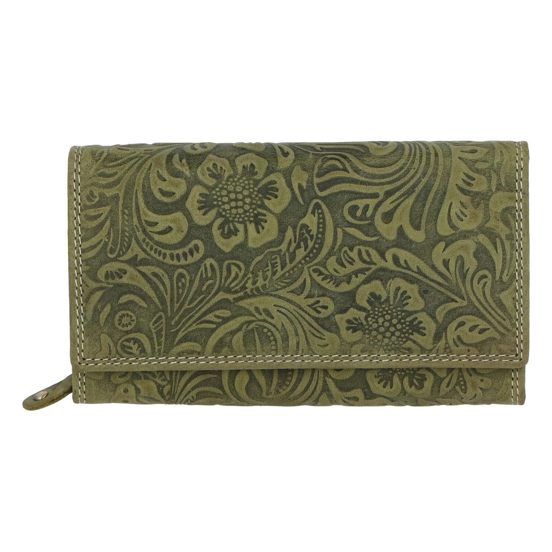 Dámska kožená peňaženka zelená - Tomas Imbali zelená
