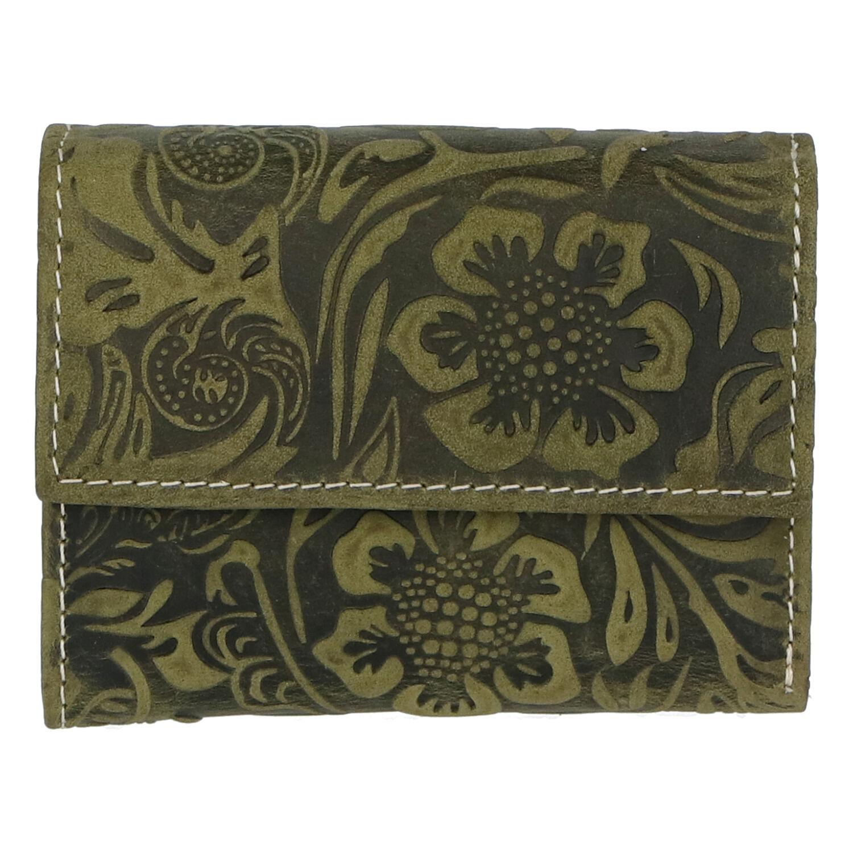 Dámska kožená peňaženka zelená so vzorom - Tomas Gulia zelená