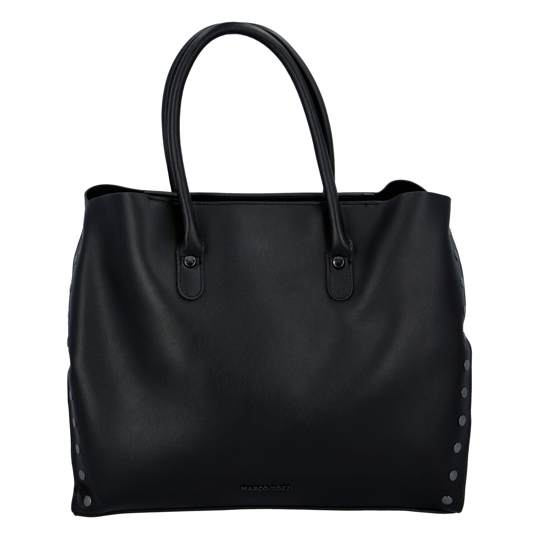 Dámska luxusná módna kabelka čierna - Marco Tozzi Diamond čierna