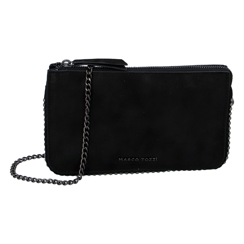 Dámska módna listová kabelka čierna - Marco Tozzi Jane čierna
