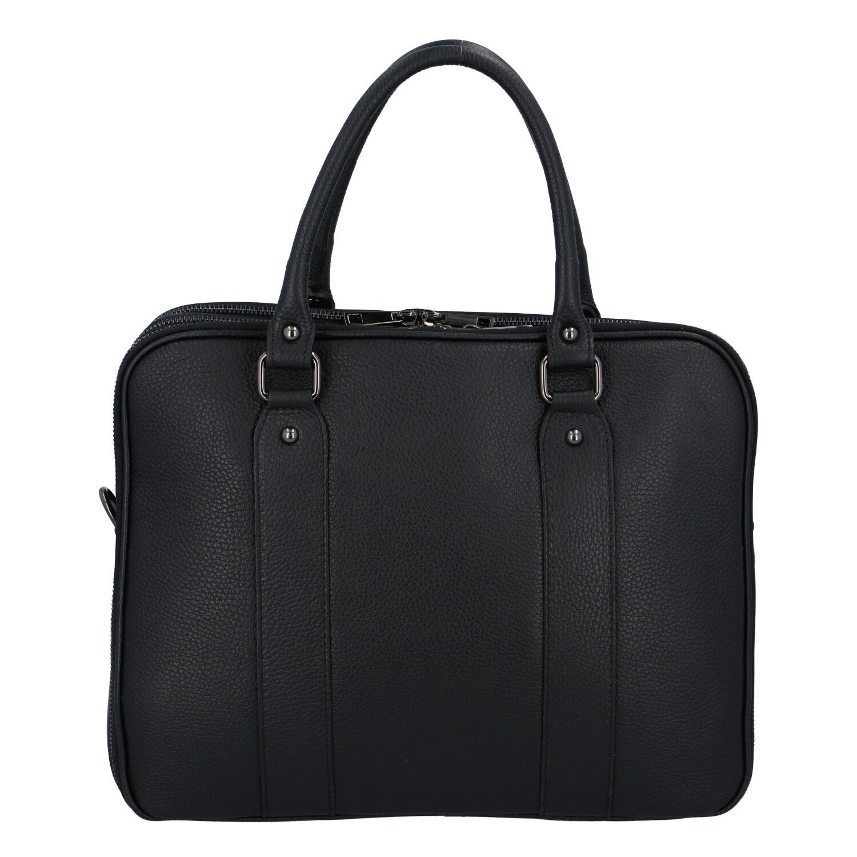 Dámska kožená kabelka aktovka čierna - ItalY Dresden čierna