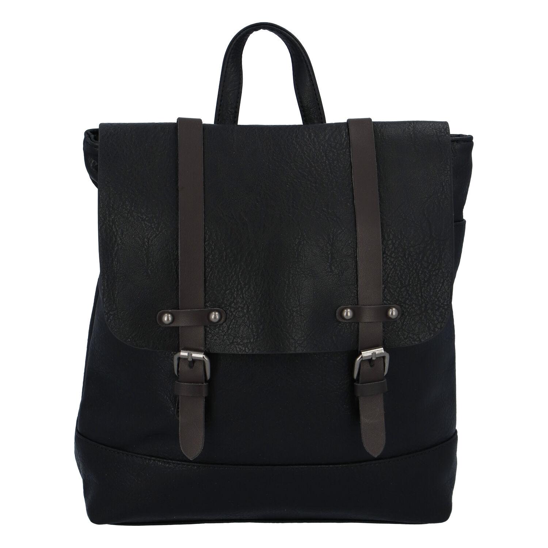 Dámsky módny mestský batoh čierny - FLORA & CO Dilema čierna
