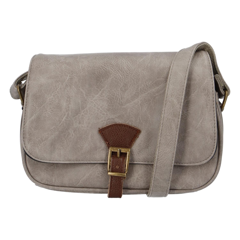 Dámska crossbody kabelka sivo-hnedá - Paolo Bags Irma taupe