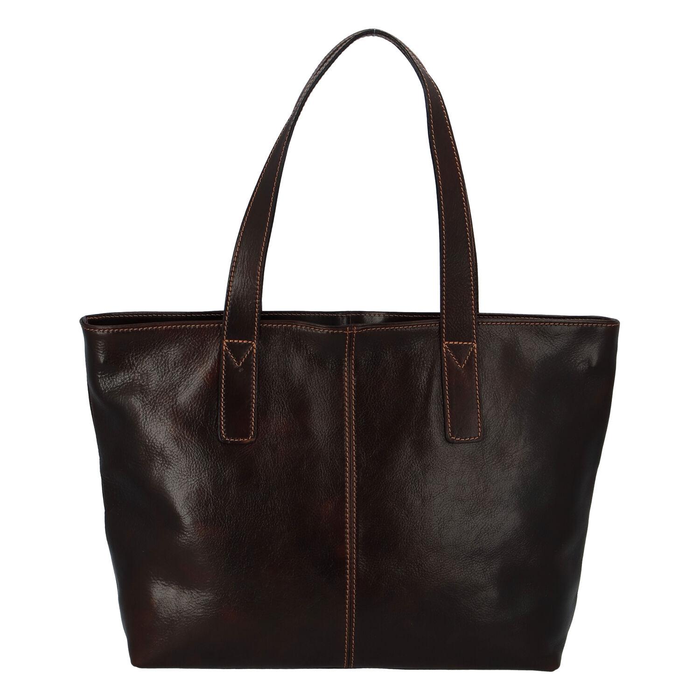 Módna dámska kožená kabelka hnedá - ItalY Rich hnedá