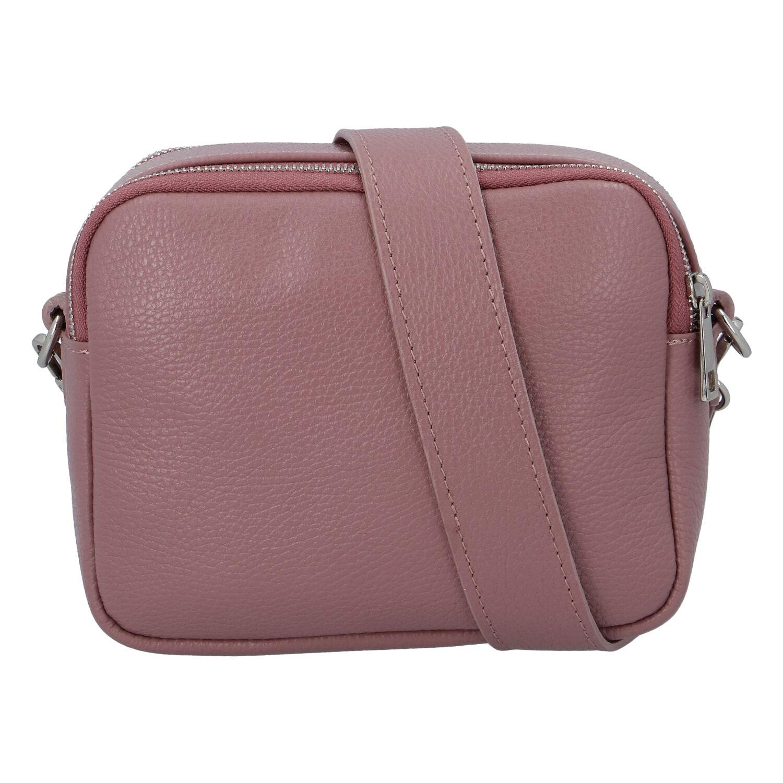 Kožená crossbody kabelka ružová - ItalY Quadro ružová