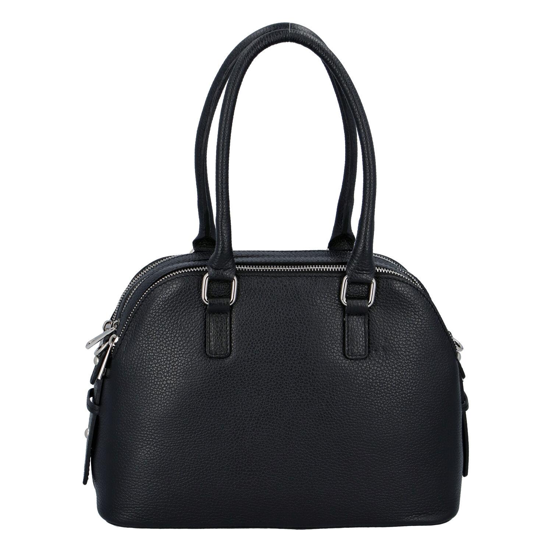 Módna dámska kožená kabelka čierna - ItalY Salva čierna