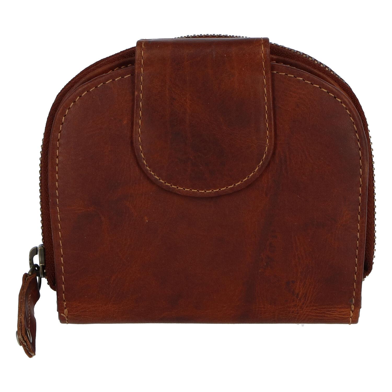 Kvalitná dámska kožená retro peňaženka hnedá - Tomas 155VN hnedá