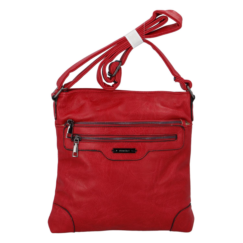 Dámska crossbody kabelka červená - Romina Hana červená