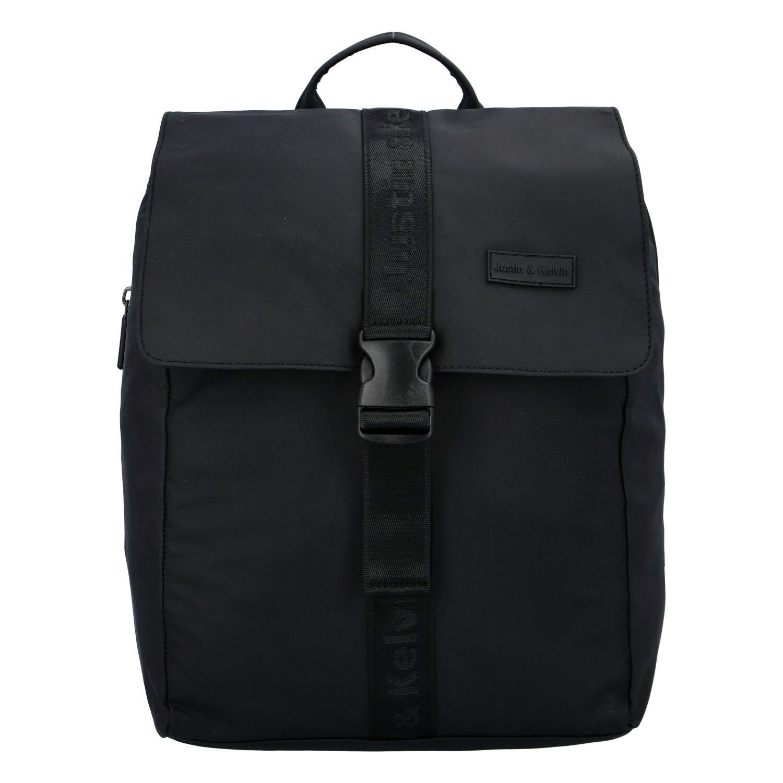 Pánsky športový batoh čierny - Justin & Kelvin Carl čierna