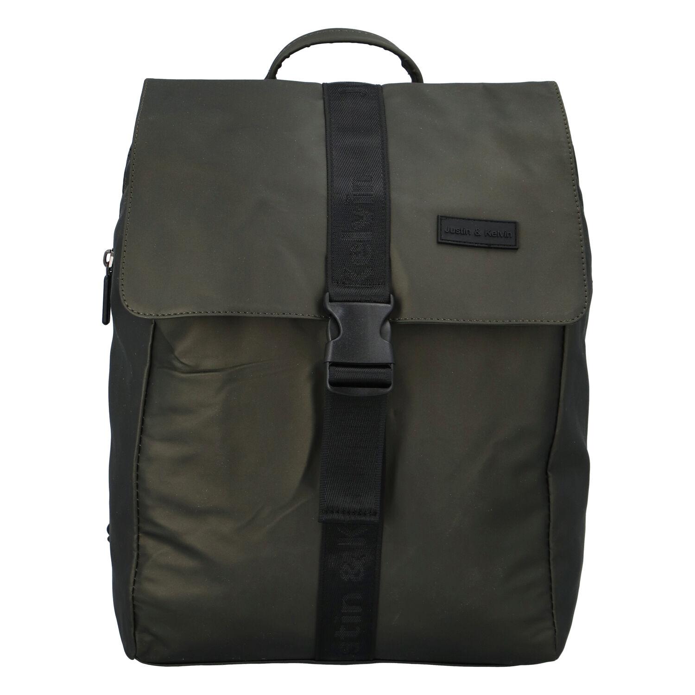 Pánsky športový batoh tmavozelený - Justin & Kelvin Carl zelená