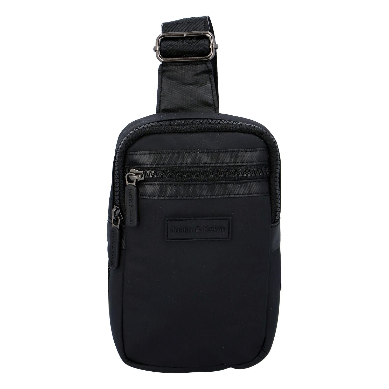 Pánska taška na doklady čierna - Justin & Kelvin John čierna