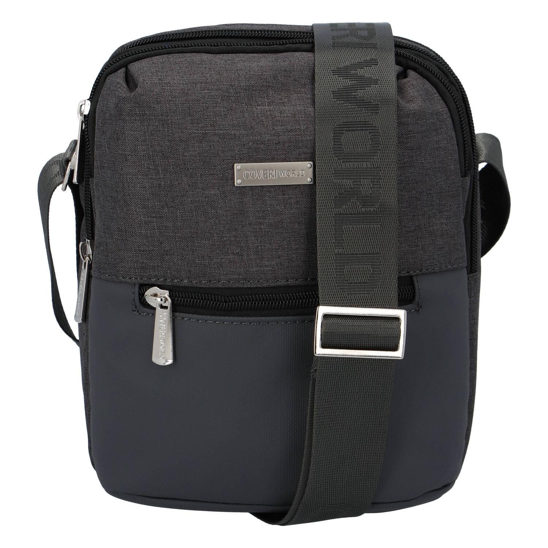 Moderná pánska taška na doklady sivá Cover Liam šedá