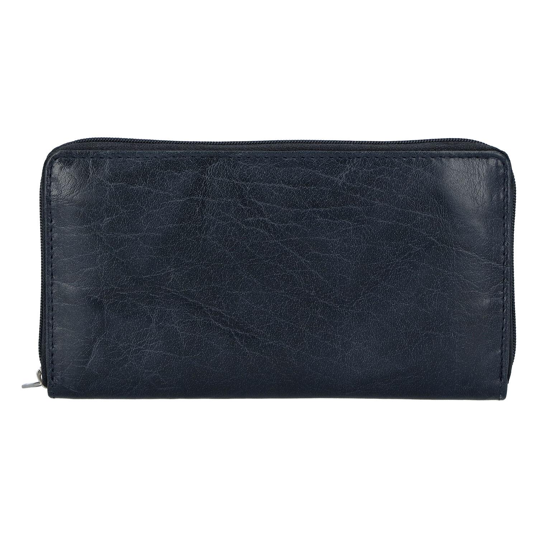 Dámska kožená peňaženka tmavo modrá - Tomas Imvilophu tmavo modra