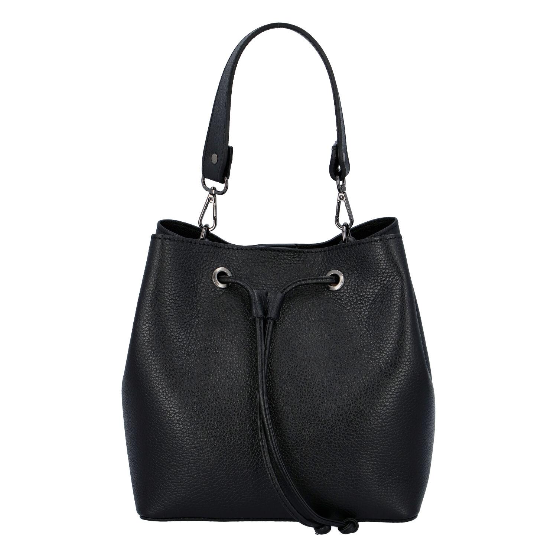 Dámska kožená kabelka čierna - ItalY TianJin čierna