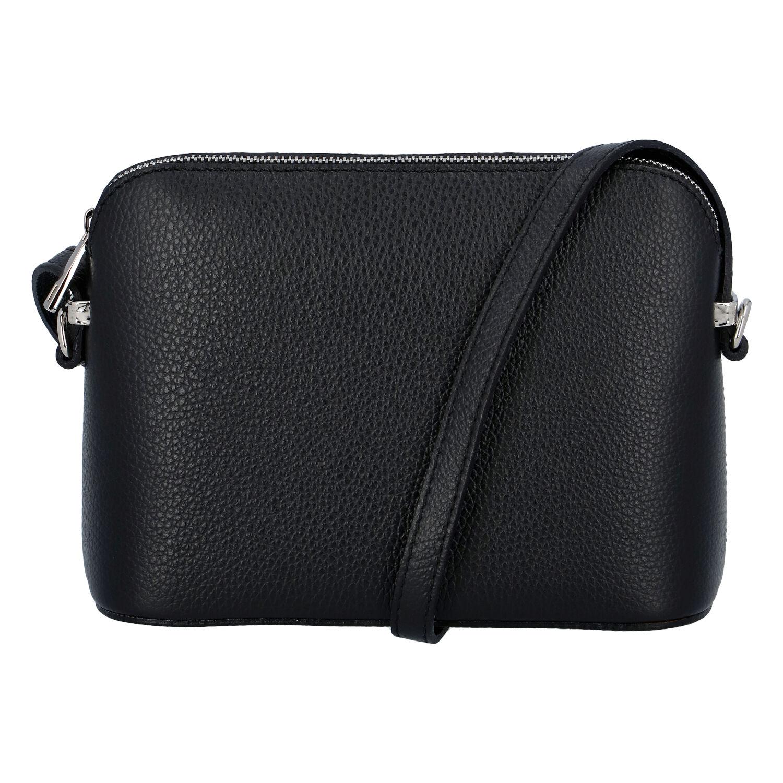 Dámska kožená crossbody kabelka čierna - ItalY M7772 čierna