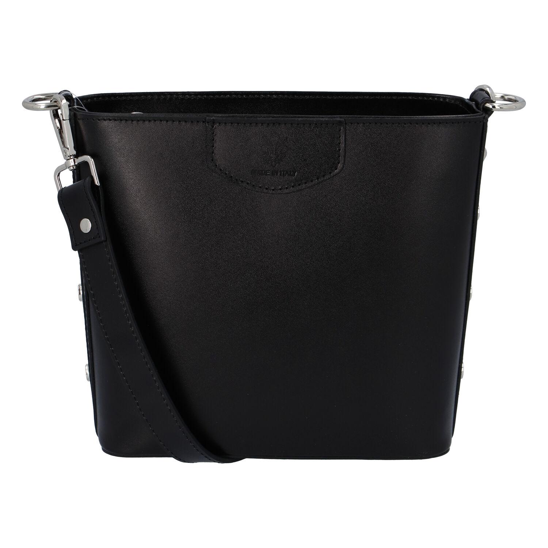 Dámska kožená kabelka čierna - ItalY Koloseum čierna