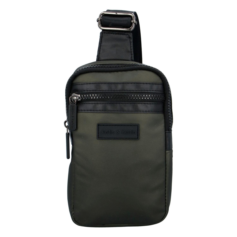 Pánska taška na doklady tmavozelená - Justin & Kelvin John zelená