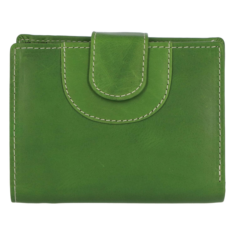 Elegantná kožená peňaženka zelená - Tomas Pilia zelená