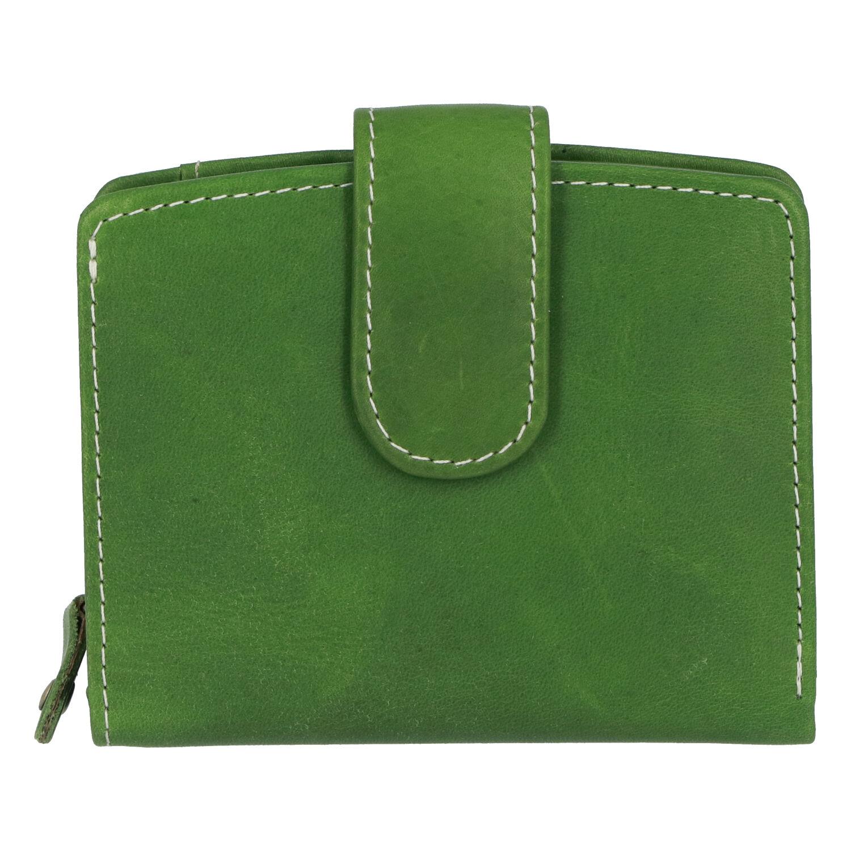 Dámska kožená peňaženka zelená - Tomas Coulenzy zelená