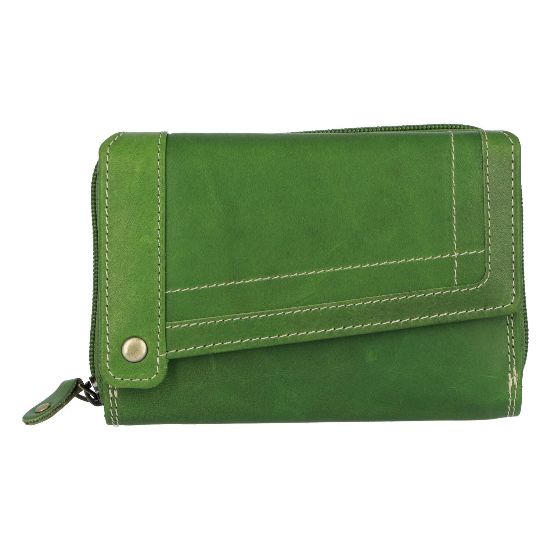 Dámska kožená peňaženka zelená - Tomas Feisol zelená