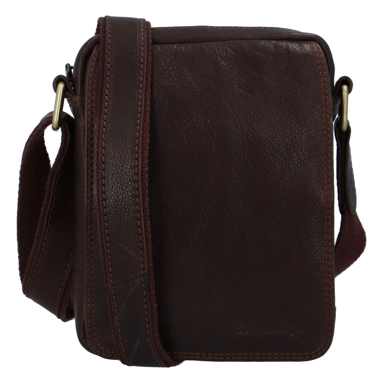 Pánska kožená taška na doklady cez rameno hnedá - SendiDesign Dumont hnedá