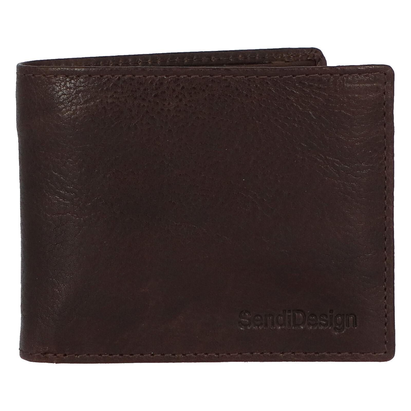 Pánska kožená peňaženka hnedá - SendiDesign Boster hnedá