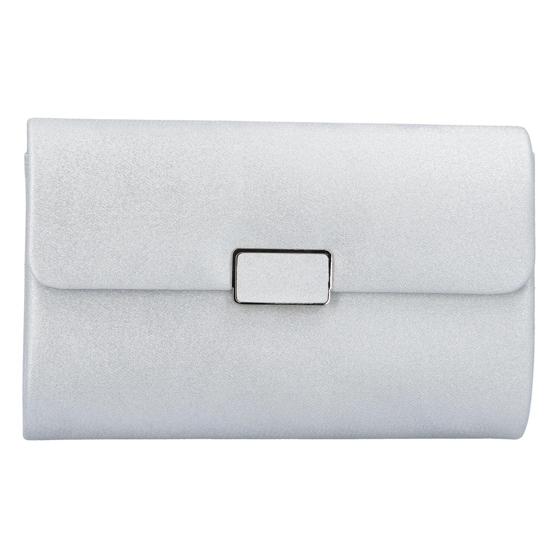 Dámska listová kabelka strieborná - Michelle Moon L6023 strieborná