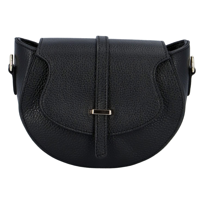 Dámska kožená crossbody kabelka čierna - ItalY Blauke čierna