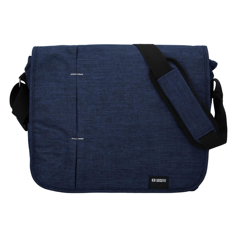 Kvalitná modrá nylonová taška na notebook - Enrico Benetti Jason modrá