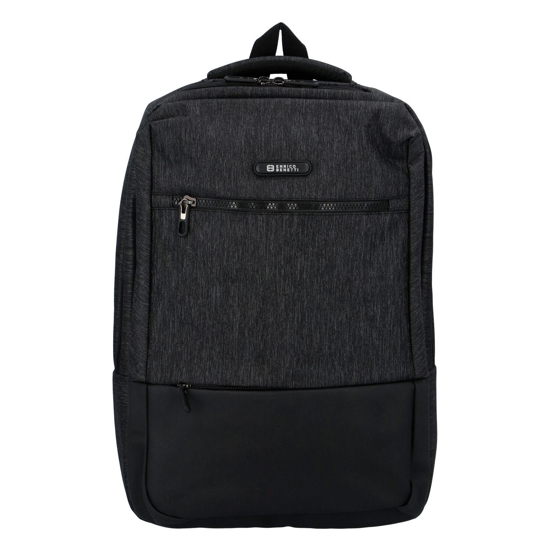 Moderný batoh čierny - Enrico Benetti Global čierna
