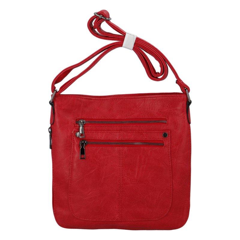 Dámska crossbody kabelka červená - Romina Sara červená