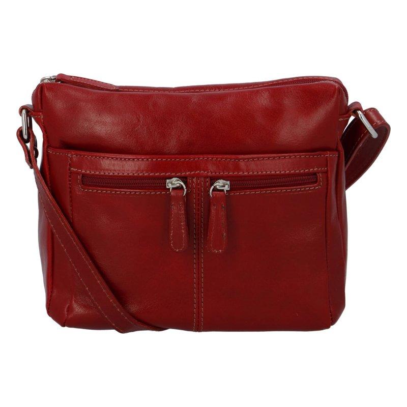 Dámska kožená crossbody kabelka červená - ItalY ItOff červená