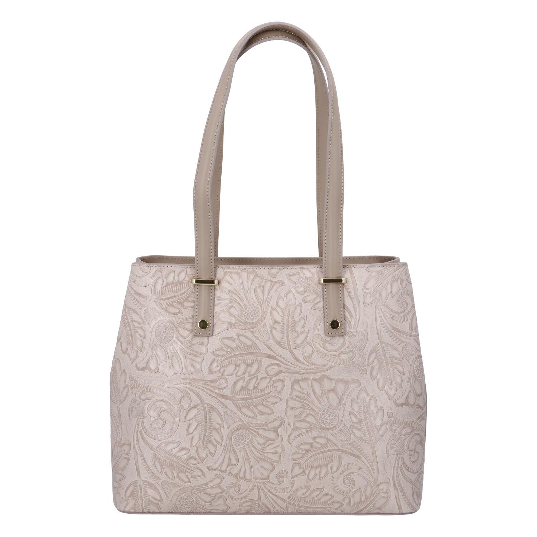 Exkluzívna dámska kožená kabelka fialovoružová - ItalY Logistilla ružová