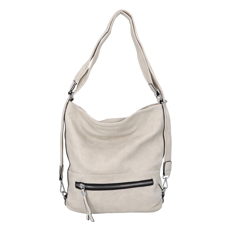 Dámska kabelka batoh svetlo béžová - Romina Nikka béžová