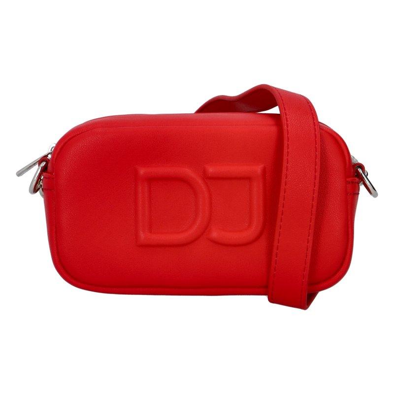Malá dámska crossbody kabelka červená - David Jones SannJary červená