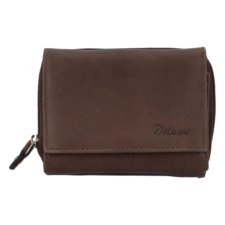 Kožená hnedá peňaženka - Delami 8230 hnedá