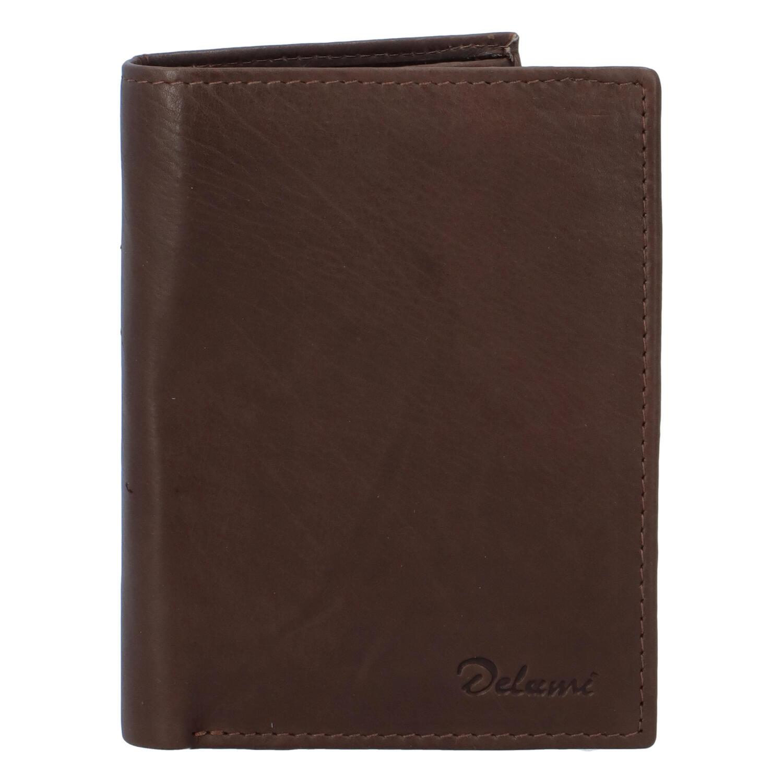 Pánska kožená peňaženka hnedá - Delami 8702 hnedá
