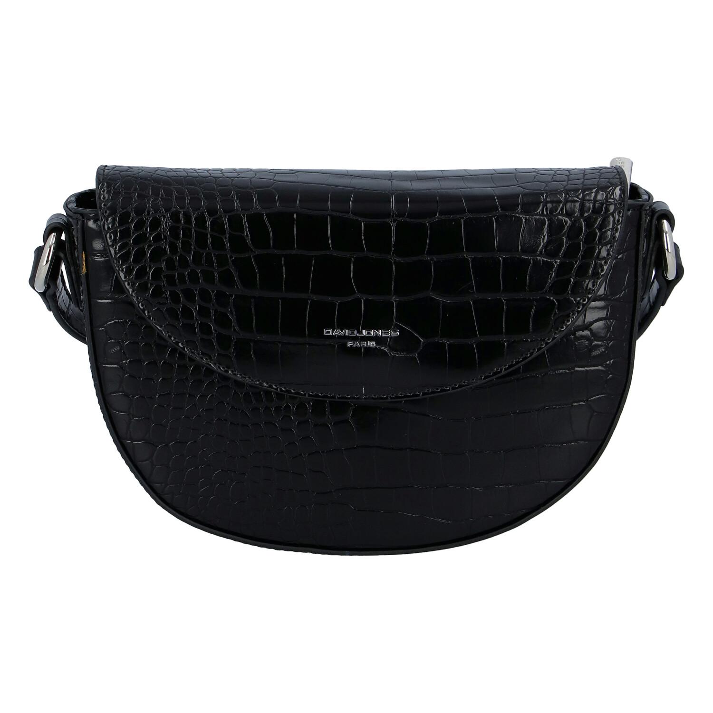 Dámska luxusná crossbody kabelka čierna - David Jones Safiuly čierna