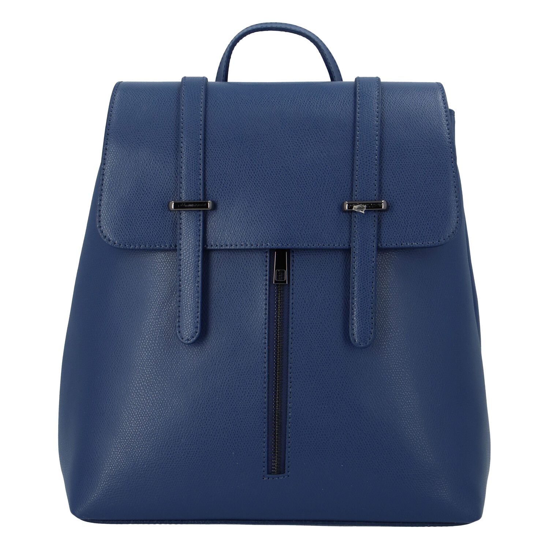 Dámsky kožený batoh tmavomodrý - ItalY Waterfall tmavo modra